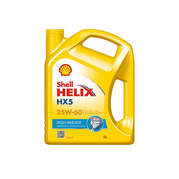 Shell Helix HX5 Alto kilometraje 25W-60